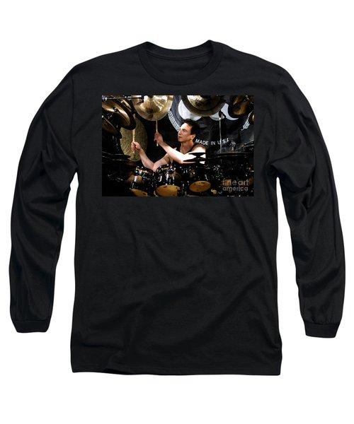 Drummer Terry Bozzio Long Sleeve T-Shirt