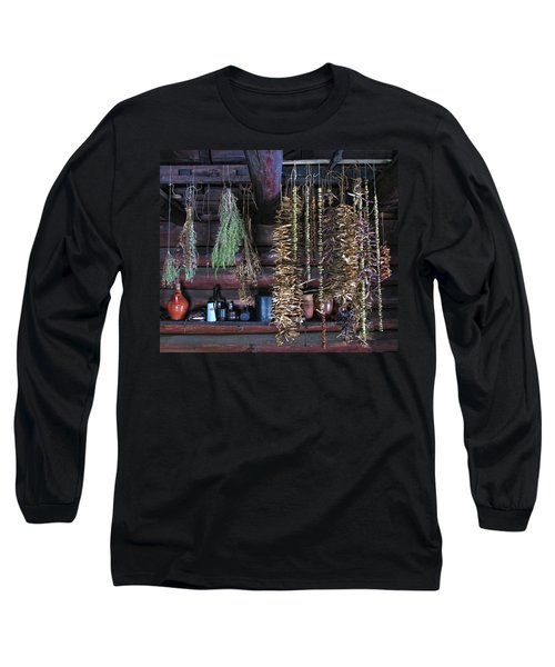 Drying Herbs And Vegetables In Williamsburg Long Sleeve T-Shirt