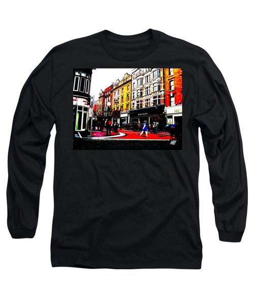 Long Sleeve T-Shirt featuring the photograph Dublin City Vibe by Charlie and Norma Brock