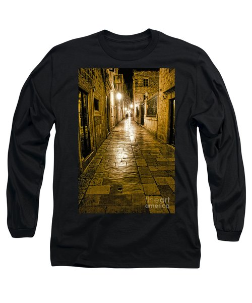 Dubrovnik Streets At Night Long Sleeve T-Shirt