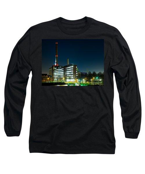 Duisburg Thyssen Krupp Factory Apostel Street Long Sleeve T-Shirt by Daniel Heine