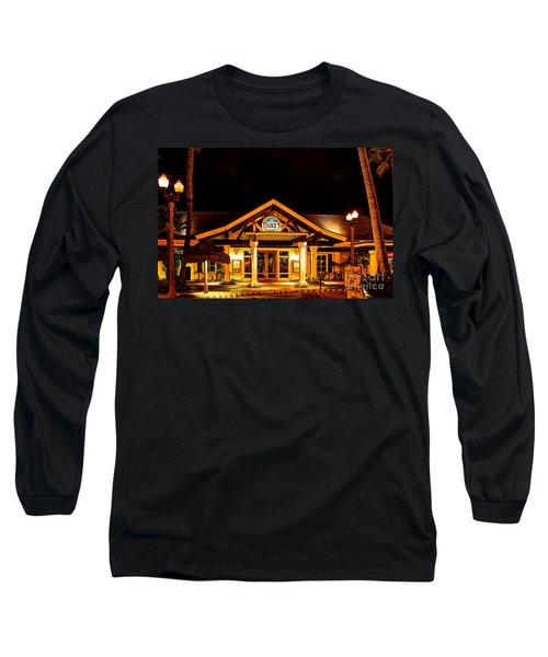 Duke's Restaurant Front - Huntington Beach Long Sleeve T-Shirt by Jim Carrell
