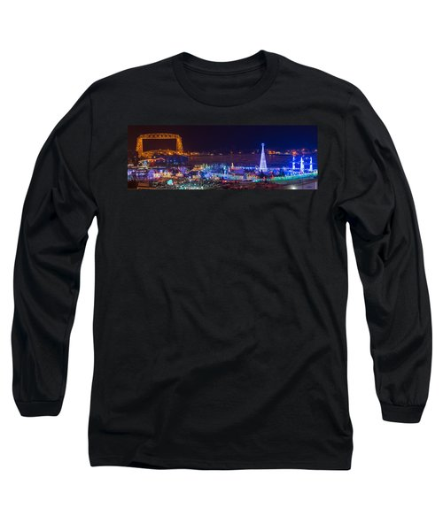 Duluth Christmas Lights Long Sleeve T-Shirt by Paul Freidlund