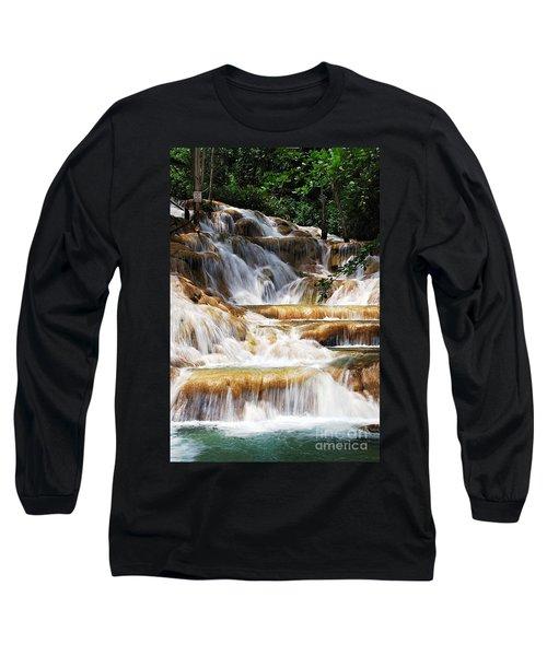 Dunn Falls _ Long Sleeve T-Shirt by Hannes Cmarits