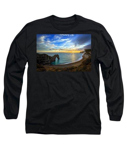 Durdle Door Sunset Long Sleeve T-Shirt