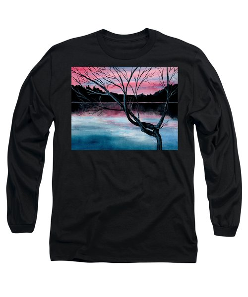 Dusk Lake Arrowhead Maine  Long Sleeve T-Shirt