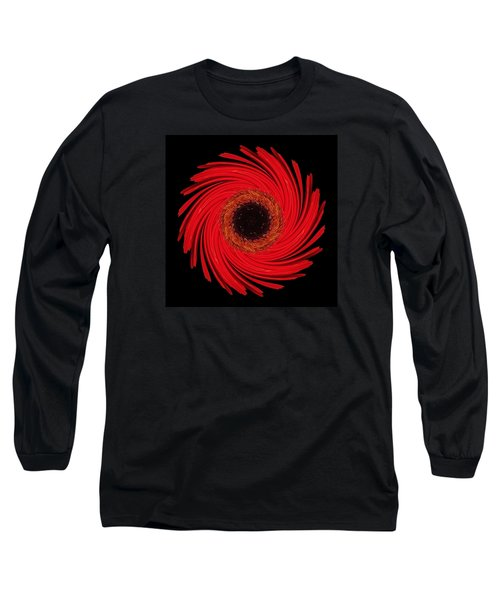 Dying Amaryllis Flower Mandala Long Sleeve T-Shirt