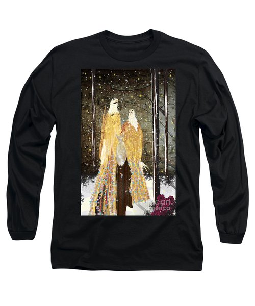 Winter Dress Long Sleeve T-Shirt by Kim Prowse