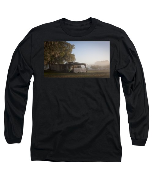 Long Sleeve T-Shirt featuring the photograph Early Morning On The Farm by Lynn Palmer