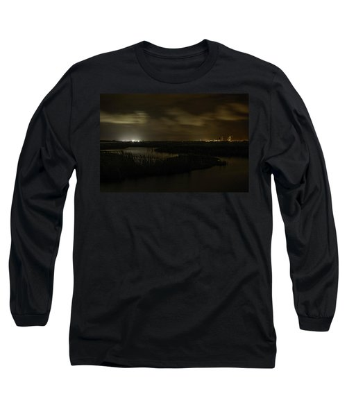 Long Sleeve T-Shirt featuring the digital art Early Morning Over Lake Shelby by Michael Thomas