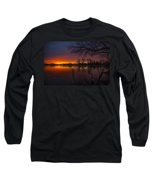 Long Sleeve T-Shirt featuring the photograph Early Morning Sunrise by Nicholas  Grunas