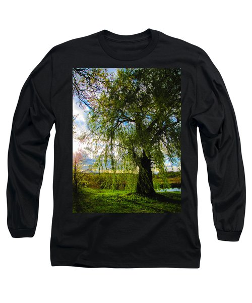 Earth Green Not Avatar Blue Long Sleeve T-Shirt