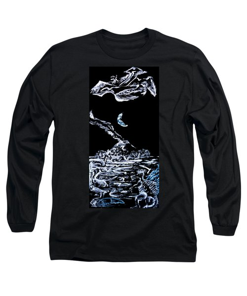 Earth Long Sleeve T-Shirt by Ryan Demaree
