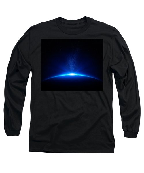 Earth Sunrise In Space Long Sleeve T-Shirt