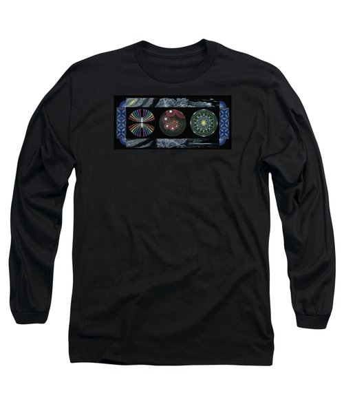 Long Sleeve T-Shirt featuring the painting Earth's Beginnings by Keiko Katsuta