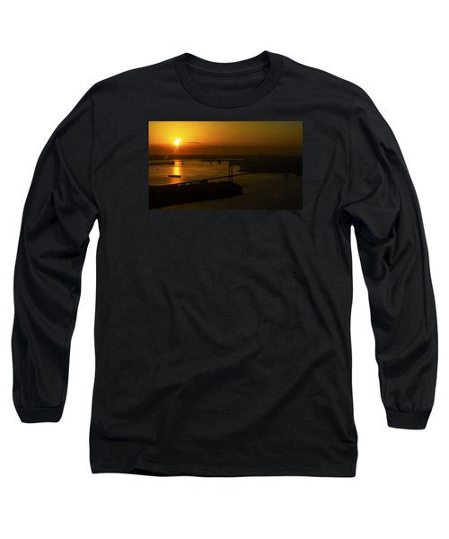 East River Sunrise Long Sleeve T-Shirt by Greg Reed