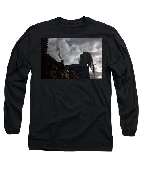 East Side Smoke Long Sleeve T-Shirt by Steven Macanka