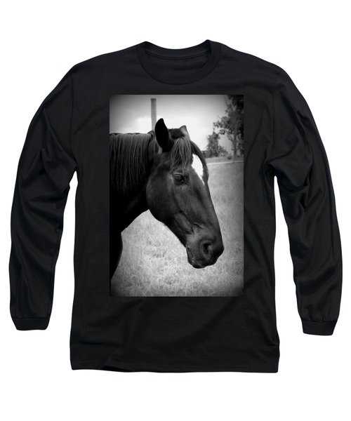 Long Sleeve T-Shirt featuring the photograph Ebony Beauty by Laurie Perry