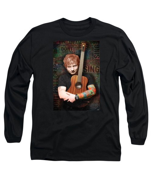 Ed Sheeran And Song Titles Long Sleeve T-Shirt