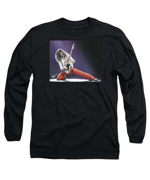 Eddie Van Halen Long Sleeve T-Shirt by Tom Carlton