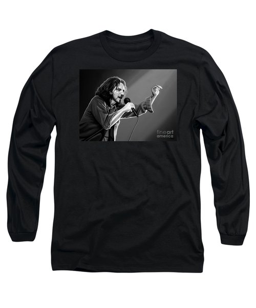 Eddie Vedder  Long Sleeve T-Shirt by Meijering Manupix