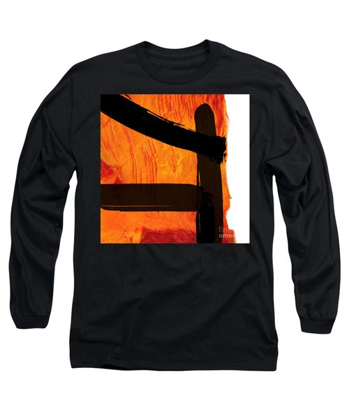 Long Sleeve T-Shirt featuring the painting Edge IIi by Paul Davenport