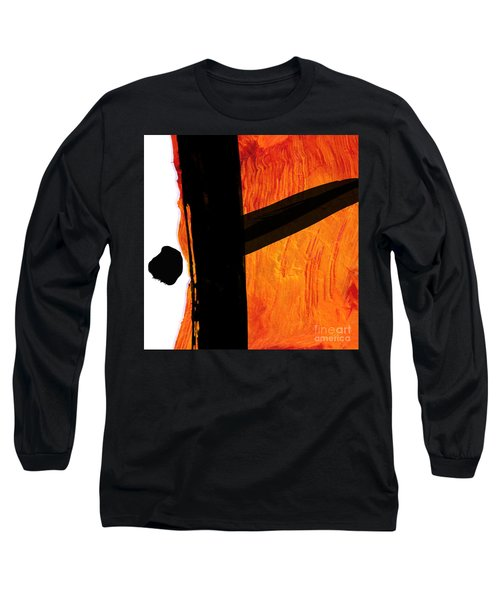 Long Sleeve T-Shirt featuring the painting Edge by Paul Davenport