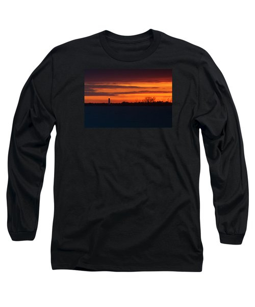 Egmont Key Lighthouse Sunset Long Sleeve T-Shirt by Paul Rebmann
