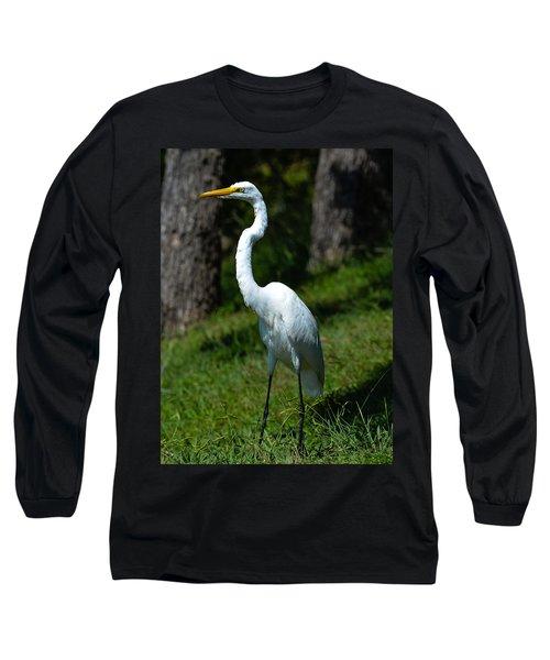 Egret - Full Length Long Sleeve T-Shirt