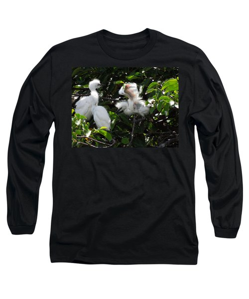 Egret Chicks Long Sleeve T-Shirt