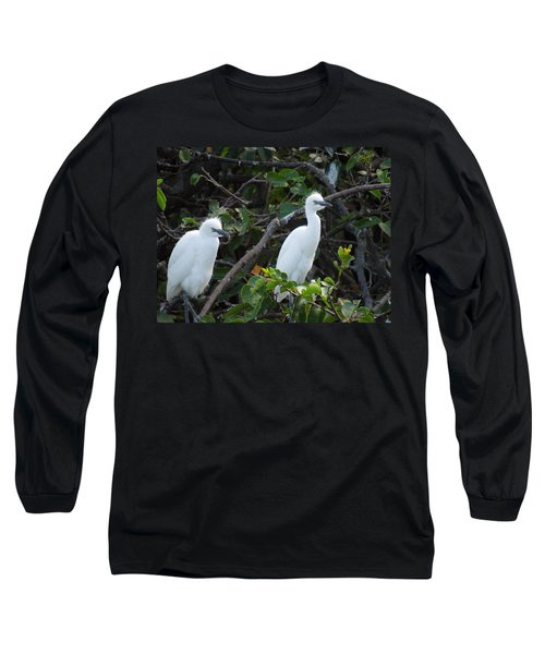 Egret Chicks Waiting To Be Fed Long Sleeve T-Shirt