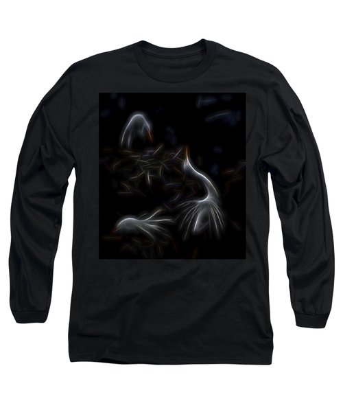 Egret Rookery 1 Long Sleeve T-Shirt by William Horden