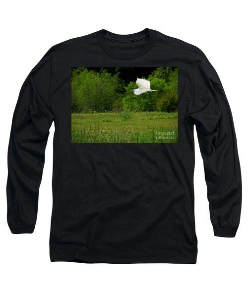 Egret's Flight Long Sleeve T-Shirt