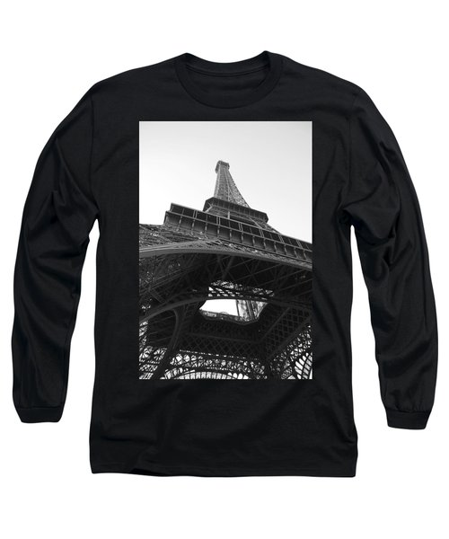 Eiffel Tower B/w Long Sleeve T-Shirt