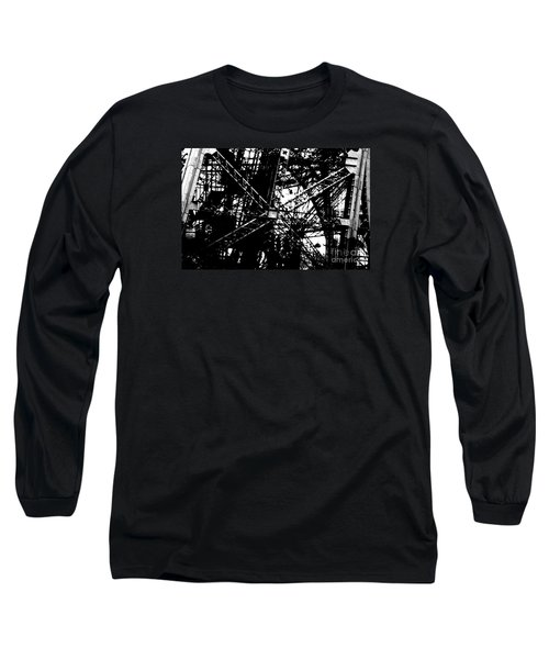 Long Sleeve T-Shirt featuring the photograph Eiffel Tower Detail  by Joey Agbayani