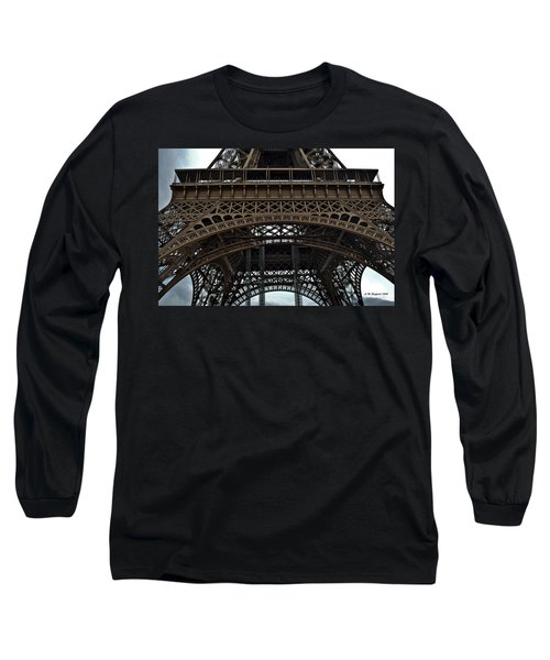 Long Sleeve T-Shirt featuring the photograph Eiffel Tower - The Forgotten Names by Allen Sheffield