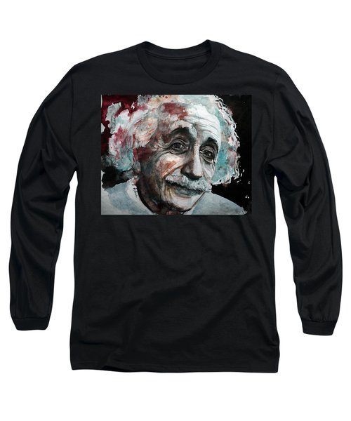 Long Sleeve T-Shirt featuring the painting Einstein  by Laur Iduc