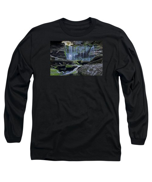 Elakala Falls Number 1 Long Sleeve T-Shirt by Shelly Gunderson