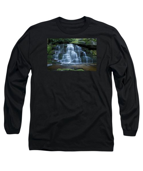 Elakala Falls Number 2 Long Sleeve T-Shirt by Shelly Gunderson