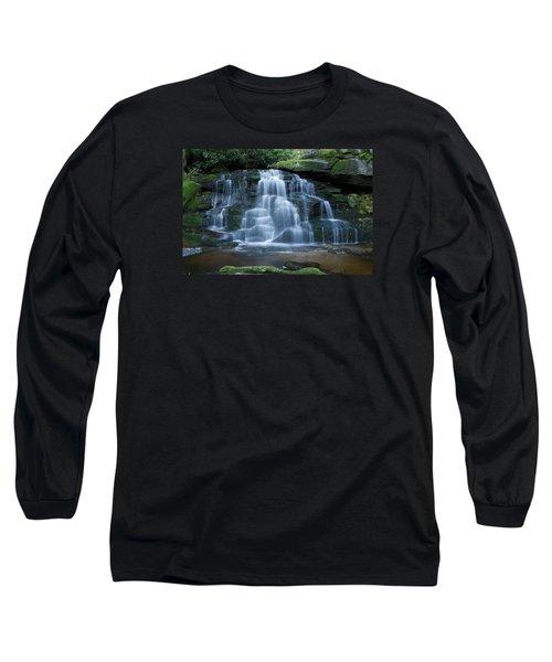 Elakala Falls Number 2 Long Sleeve T-Shirt by Shelly Gunderson