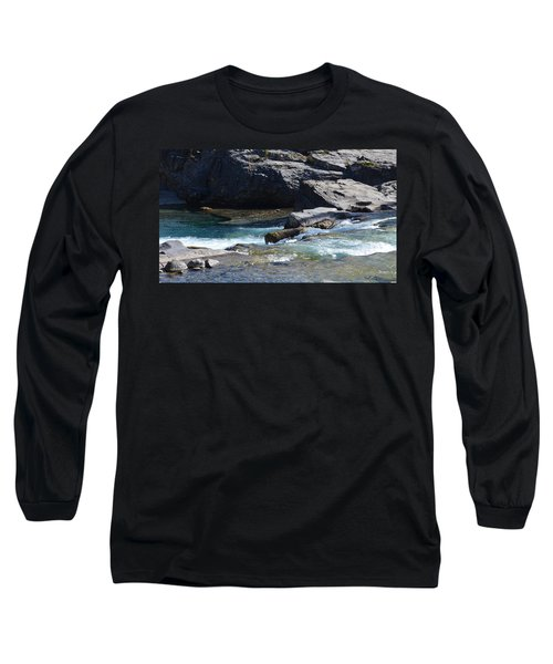 Elbow Falls Landscape Long Sleeve T-Shirt