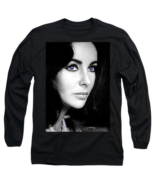 Elizabeth Taylor Long Sleeve T-Shirt by George Pedro