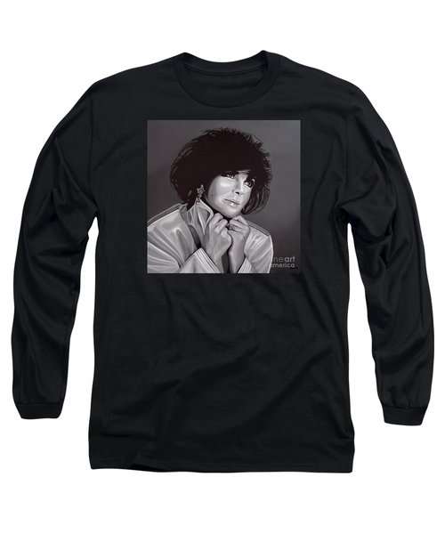 Elizabeth Taylor Long Sleeve T-Shirt by Paul Meijering