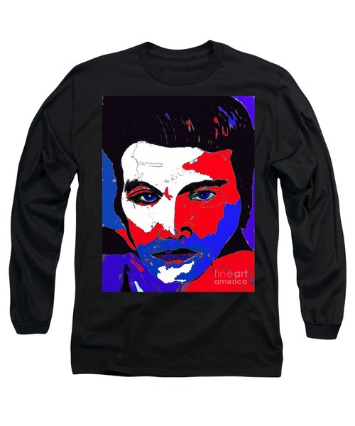 Elvis Made In The U S A Long Sleeve T-Shirt by Saundra Myles