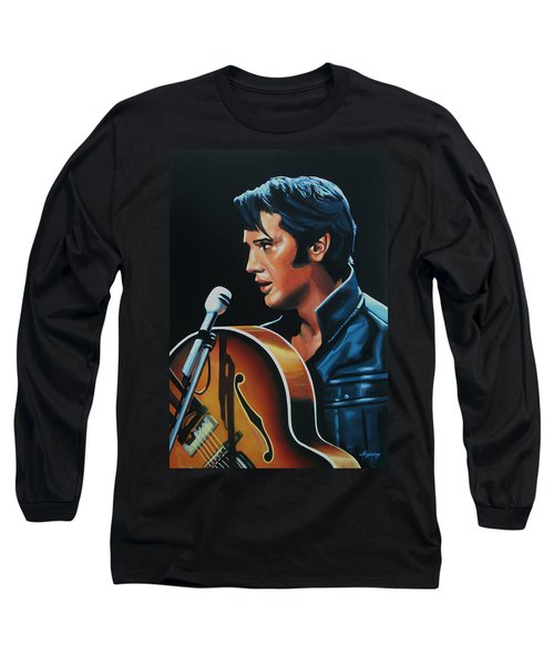 Elvis Presley 3 Painting Long Sleeve T-Shirt