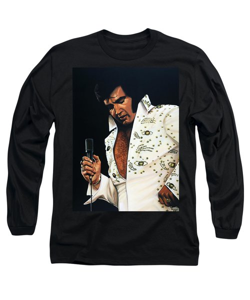 Elvis Presley Painting Long Sleeve T-Shirt