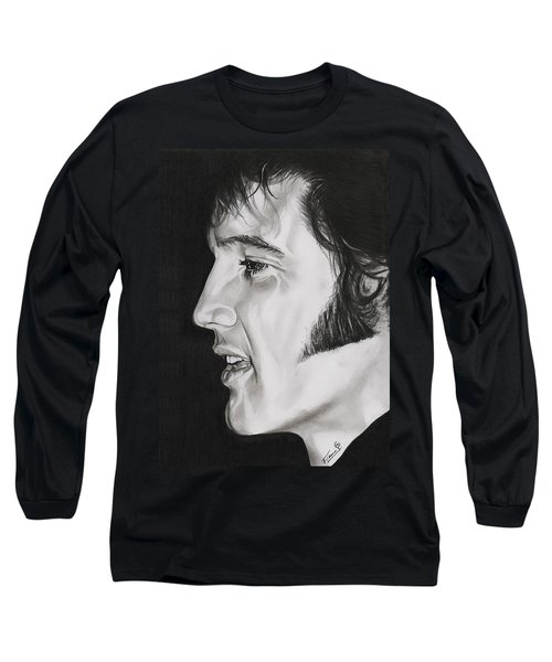 Elvis Presley  The King Long Sleeve T-Shirt by Fred Larucci