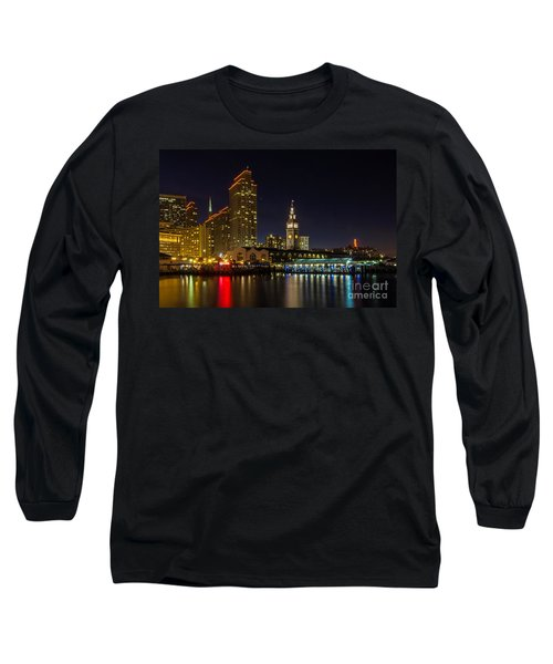 Long Sleeve T-Shirt featuring the photograph Embarcadero Blue Hour by Kate Brown