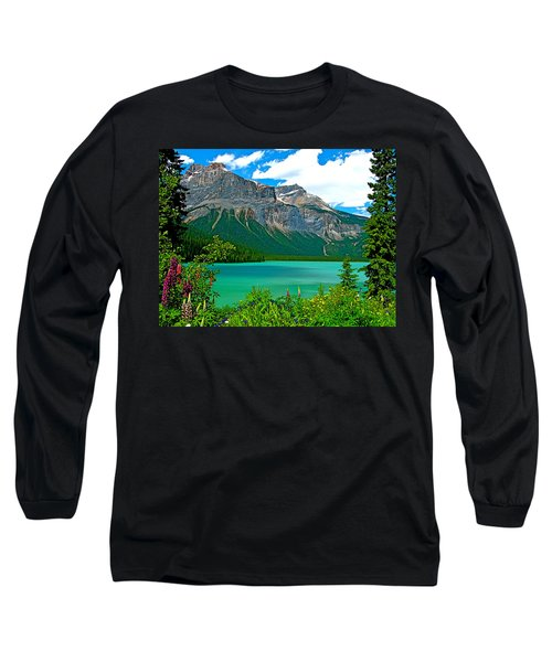 Emerald Lake In Yoho Np-bc Long Sleeve T-Shirt by Ruth Hager