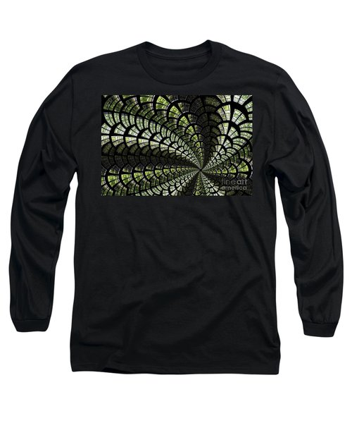 Long Sleeve T-Shirt featuring the photograph Emerald Whirl. by Clare Bambers